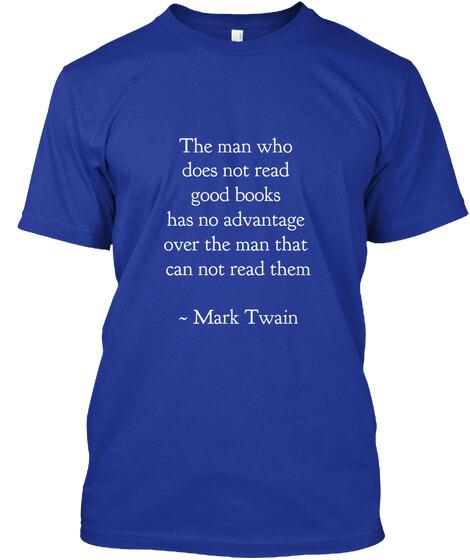 Mark Twain Quote on Reading