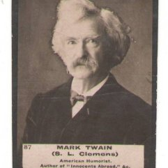 Mark Twain Tobacco Card 87
