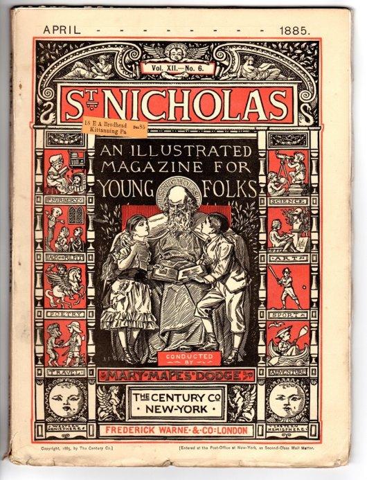 St Nicholas Magazine April 1885 Huck Finn Ad Front