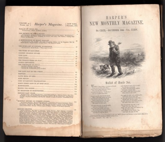 Harper's Magazine December 1866 Twain