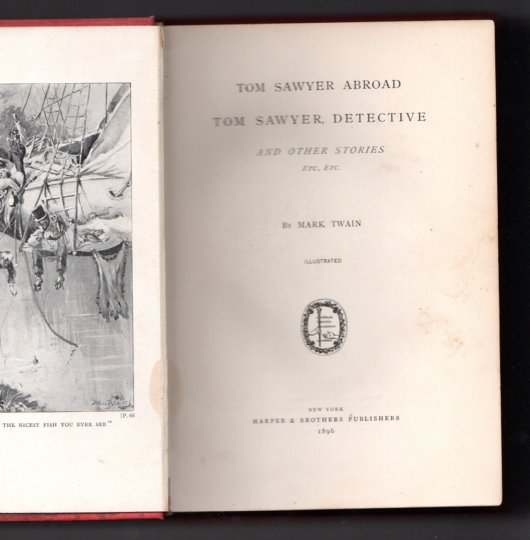Tom Sawyer Abroad Tom Sawyer Detective 5 title page