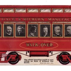 Mark Twain in Train Car Ad