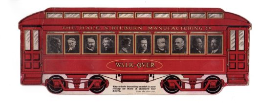 Mark Twain in Train Car Ad