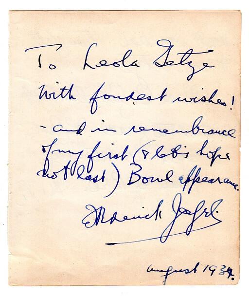 Clara Clemens Gabrilowitsch Signed Note