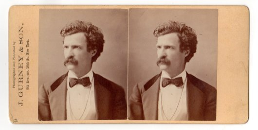 Mark Twain Gurney Stereoview