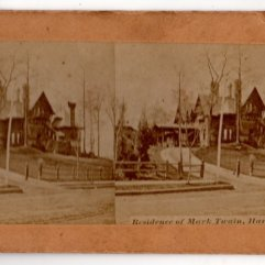 Stereoview Mark Twain Residence Hartford