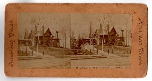 Stereoview Mark Twain Residence Hartford