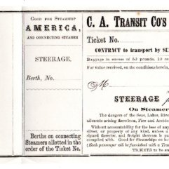 Mark Twain steamship ticket