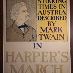 Harpers Ad Poster Mark Twain