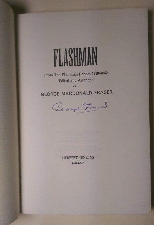 Flashman advance signed