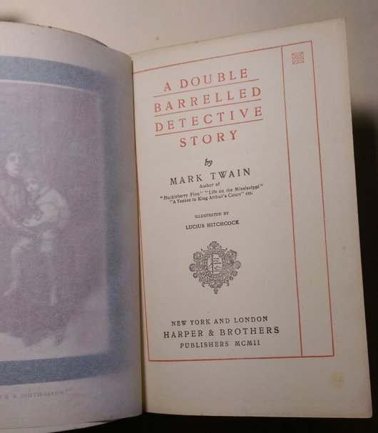 Double Barrelled Story - title page