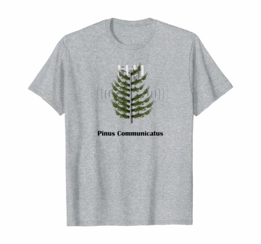 Pinus Communicatus - cell phone tower shirt design