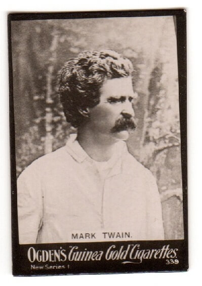 Guinea Gold 339 Mark Twain tobacco card