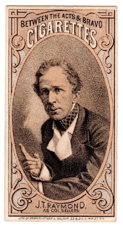 John T Raymond trade card
