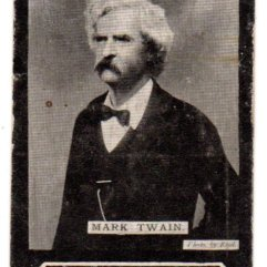Ogdens 89 Mark Twain trade card