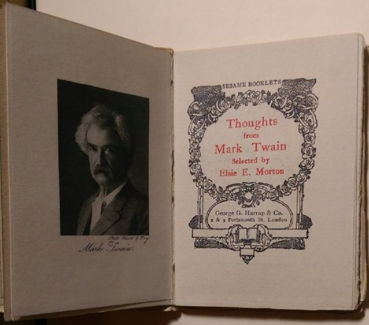 Thoughts from Mark Twain title page