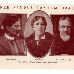 Oscar Wilde Advertising Brochure