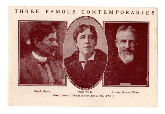 Oscar Wilde Advertising Brochure