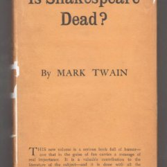 Mark Twain - Is Shakespeare Dead - front cover