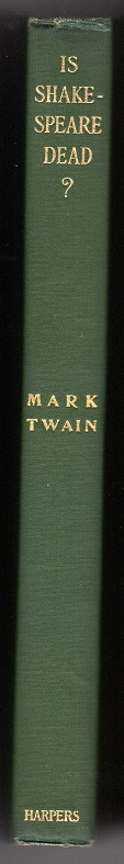 Mark Twain - Is Shakespeare Dead - Spine