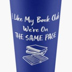 I like my book club, we're on the same page travel mug