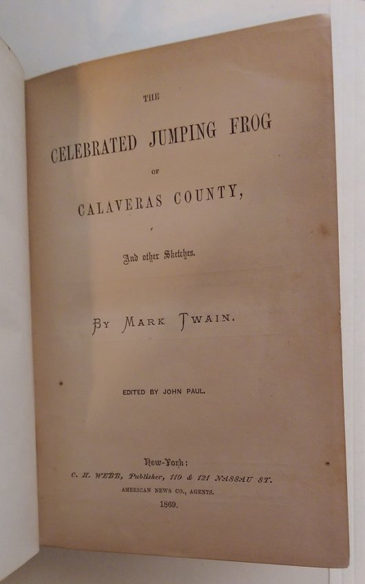 Celebrated Jumping Frog flyleaf