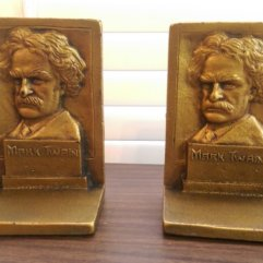 Mark Twain Bookends