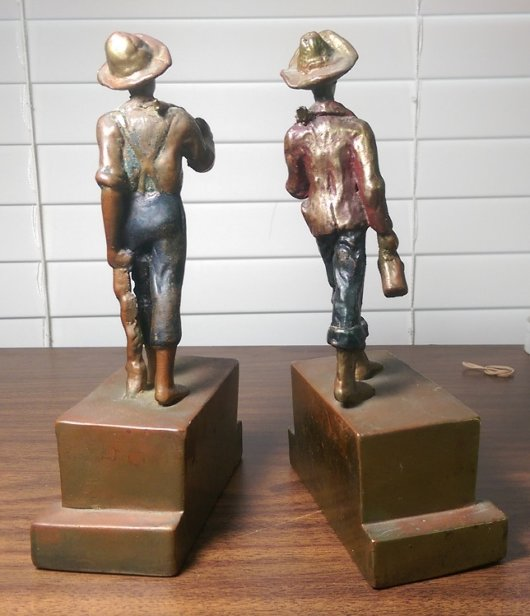 Tom and Huck Bookends